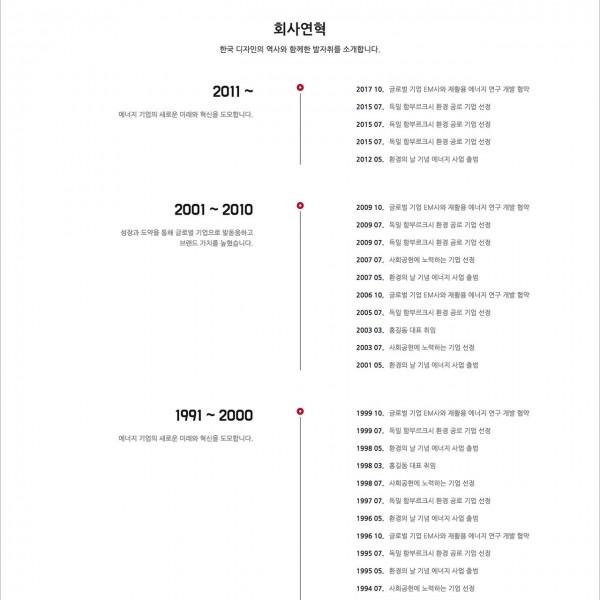 [시즌4] 회사연혁 페이지 (BUSI004_HISTORY)